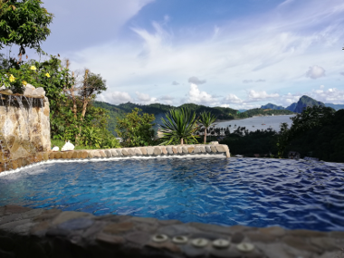 View from Villa 1 with private pool