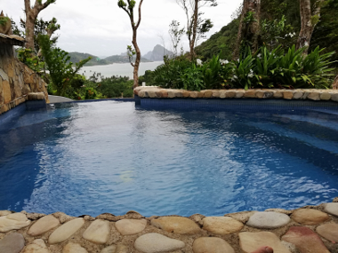 View from Villa 2 with private pool