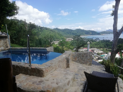 View from Villa 1 facing swimming pool and Corong Corong beach