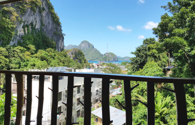 View from Deluxe of town of El Nido